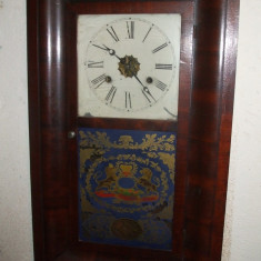 ..REDUCERE..Pendula de perete anii 1850-1870 ceas de colectie, functionala