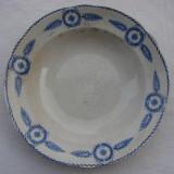 Farfurie mare pentru supa din portelan suedez vechi marca Gefle, Farfurii