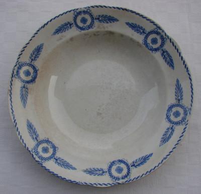 Farfurie mare pentru supa din portelan suedez vechi marca Gefle foto