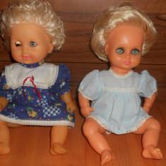 2 Bebelusi cauciuc / Papusi ARADEANCA.30cm. (Papusa veche, de colectie, Bebelus vechi, Romania, Vintage, epoca comunista Ceausescu) Anii 80-90. - Papusa de colectie