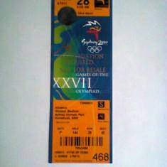Olimpiada Sidney 2000 - acreditare / bilet - Program meci