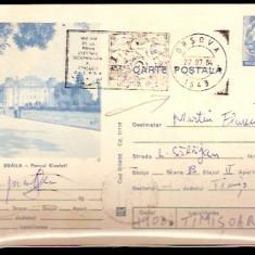 Romania - Intreg postal - BRAILA - Parcul Kiseleff