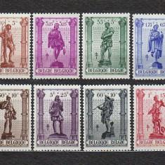 Belgia 1943 - Serie MNH - Timbre straine
