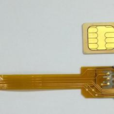 Adaptor dual sim panglica 3G, 4G - ORIGINAL Q-SIM Iphone 5, 5c, 5s sau telefoane cu nano simnu necesita taierea cartelelor