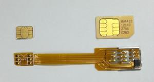 Adaptor dual sim panglica 3G, 4G - ORIGINAL  Q-SIM  Iphone 5,5c,5s  sau telefoane cu nano simnu necesita taierea cartelelor