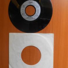 Raritate! Disc Vinyl 7 Sandra - Heaven Can Wait,Heaven's Theme (Instrumental),1988,Virgin,Germany.Stereo,45rpm.(Vinil de colectie,pick-up vechi).