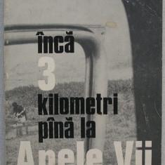 Ilie Purcaru - Inca 3 Kilometri pana la Apele Vii - Un Portret al Satului Oltean, Alta editura, 1976
