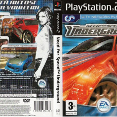 Joc original Need For Speed Underground pentru consola Sony Playstation 2 PS2 - Jocuri PS2 Electronic Arts, Curse auto-moto, Toate varstele, Multiplayer