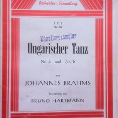 PARTITURA UNGARISCHER TANZ NR. 5 SI NR.6 - JOHANNES BRAHMS (in limba germana)