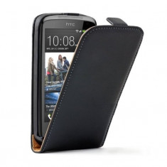 Husa HTC Desire 500 Flip Case Slim Inchidere Magnetica Black - Husa Telefon HTC, Negru, Piele Ecologica, Cu clapeta, Toc