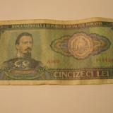 Bancnota 50 lei - 1966 - Bancnota romaneasca