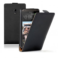 Husa HTC Desire 700 Flip Case Slim Inchidere Magnetica Black - Husa Telefon HTC, Negru, Piele Ecologica, Cu clapeta, Toc