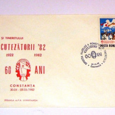 Plic special/ocazional - CUTEZATORII - stampila speciala - PIONIERI - CONSTANTA - 1982 - 2+1 gratis pt produse la pret fix - RBK4243 - Carte Postala Dobrogea dupa 1918