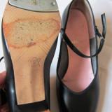 Pantofi step dama CAPEZIO , toc, placute ajustabile, marimea 36,5, folositi  - MADE IN U.S.A!!!