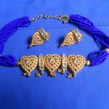 SET CERCEI SI COLIER / LANT - CULORI DEOSEBITE (provenienta IRAN) - Set bijuterii handmade si fashion