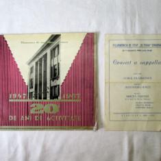 Brosura aniversara Filarmonica Oltenia Craiova 1967 ( 20 ani activitate ) + pliant Filarmonica Oltenia 1969