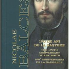 ROMANIA 1 LEU 2009, NICOLAE BALCESCU, 190 ani nastere, Tombac certif BNR - Moneda Romania
