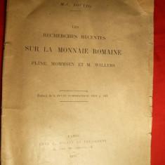 M.C.Soutzo ( Sutu) -Cercetari recente asupra Monedei Romane - Ed. 1910