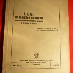 Legi cu caracter Financiar -Monitorul Oficial 1940, Alta editura