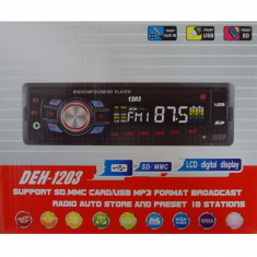 Radio MP3 Player Auto cu USB si Card Reader DEH cu fata detasabila - CD Player MP3 auto