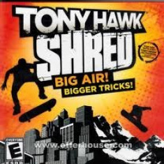 Tony Hawk Shred PS3 JOC ORIGINAL FULL English UK Zona 2 - Jocuri PS3 Ea Sports, Sporturi, 12+