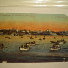 TURCIA - CONSTANTINOPOLE - TRAVERSAREA PORTULUI CU BARCA - 1913 - CIRCULATA ., Europa, Fotografie