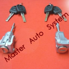 Butuc maner cu chei usa Volkswagen Polo 9N 9N3 4/5 usi('01-'09) fata stanga - Butuc incuietoare, POLO (9N_) - [2001 - 2009]