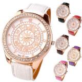 Ceas de dama Ibeli horoscop cu cristale nou garantie reducere, Quartz, Piele ecologica, Analog