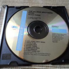 Allman Brothers Band seven turns cd disc muzica rock blues epic fara coperta, Epic rec