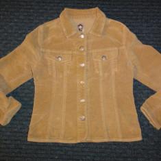 Geaca de primavara de catifea culoarea camilei, marca Cimarron, fete circa7-8 ani