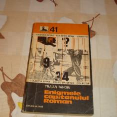 Traian Tandin - Enigmele capitanului Roman - 1978 - Carte de aventura