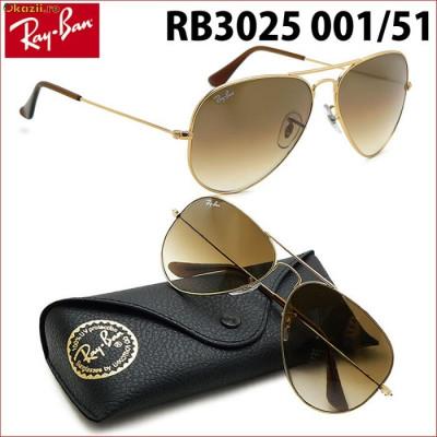 ochelari de soare Ray Ban AVIATOR 3025 001 51 marimea 55 S ( small ... 8d572e9d36