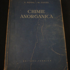 E.BERAL * M. ZAPAN - CHIMIE ANORGANICA {1955}