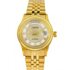 Ceas Automatic - Ceas de LUX - Ceas de Dama LOBOR GOLD, mecanism automatic - Ceas dama, Lux - elegant, Mecanic-Automatic, Placat cu aur, Ziua si data