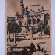 Carte postala (Vedere ) ORADEA - Piata maresal Malinovski - Carte Postala Crisana dupa 1918, Circulata, Fotografie