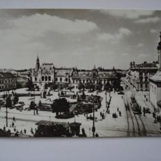 Carte postala (Vedere ) ORADEA - Piata Victoriei - Carte Postala Crisana dupa 1918, Circulata, Fotografie