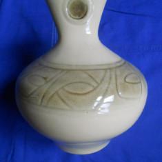 VAZA MODERNA CERAMICA - 2 CULORI (CREM/BORDURA MAI INCHISA LA CULOARE) - Arta Ceramica
