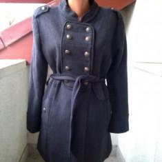 PARDESIU SCURT GEN TUNICA XANA DE PARIS MADE IN FRANCE - Palton dama, Marime: M/L, Culoare: Gri, Lana