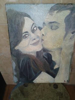 pictura in ulei pe pinza ,fara rama .reducere foto