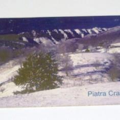 Cartela telefonica - PEISAJ - NATURA - MUNTE - IARNA - ZAPADA - PIATRA CRAIULUI - 2002 - 2+1 gratis pt produse la pret fix - RBK4397 - Cartela telefonica romaneasca