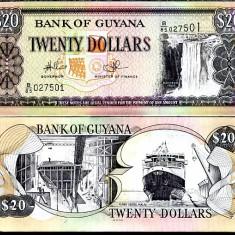 GUYANA- 20 DOLLARS ND 2009- UNC!! - bancnota america