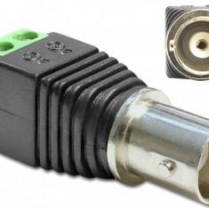 Adaptor BNC mama la bloc terminal 2 pini | Camere video CCTV | NOU