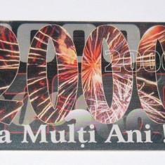 Cartela telefonica - SARBATORI - ANUL NOU - ARTIFICII - 2000 - 2+1 gratis pt produse la pret fix - RBK4400 - Cartela telefonica romaneasca