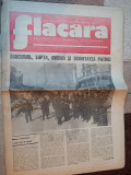 ziarul flacara 10 martie 1977-primul nr al ziarului dupa cutremur,art. si foto