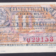 Bancnota Columbia 10 Centavos 1900 - P263 UNC - bancnota america