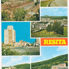 #carte postala(ilustrata)- RESITA-colaj