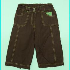 Pantaloni 3/4 fetite, cu broderie, talie reglabila, marca C&A _ fete   6 - 7 ani, Marime: Alta, Culoare: Maro