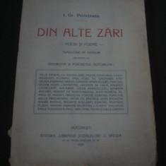 I. GR. PERIETEANU - DIN ALTE ZARI * POESII SI POEME {1916} - Carte veche