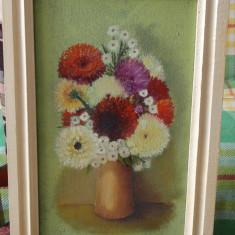Tablou - Flori - Hlinka G. '91 Dimensiuni 40x24 - Ulei pe panza - Pictor strain