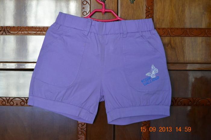 Pantaloni scurti mov cu fluturas foto mare